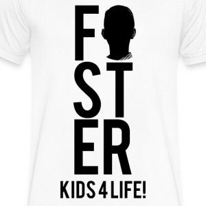 Foster Kids 4 Life! Men's Shirt - Men's V-Neck T-Shirt by Canvas