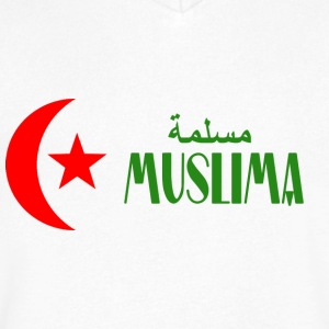 Muslima - Men's V-Neck T-Shirt by Canvas