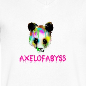 Axelofabyss panda panda paint - Men's V-Neck T-Shirt by Canvas