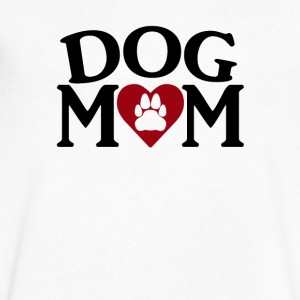 Dog Mom - Men's V-Neck T-Shirt by Canvas