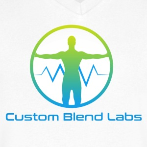 Custom Blend Labs Logo - Men's V-Neck T-Shirt by Canvas
