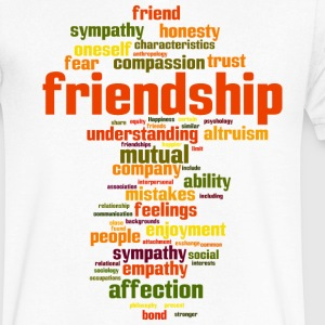 friendship - Men's V-Neck T-Shirt by Canvas