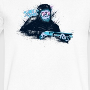Ape War - Men's V-Neck T-Shirt by Canvas