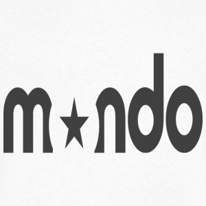 mondo_logo - Men's V-Neck T-Shirt by Canvas