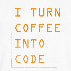 Programmer Gift-Turn coffee into code-Shirt,Hoodie - Men's V-Neck T-Shirt by Canvas