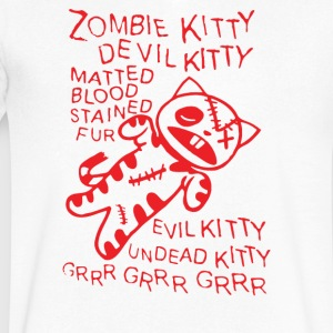 Zombie Soft Kitty - Men's V-Neck T-Shirt by Canvas