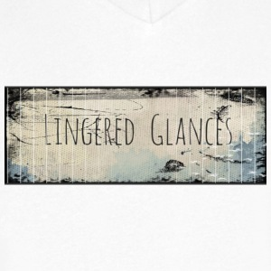 Lingered Glances - Men's V-Neck T-Shirt by Canvas
