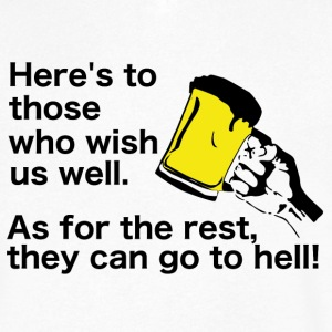 Irish Toast and Curse - Wish us well or go to hell - Men's V-Neck T-Shirt by Canvas