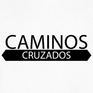 Caminos Cruzados logo básico - Men's V-Neck T-Shirt by Canvas
