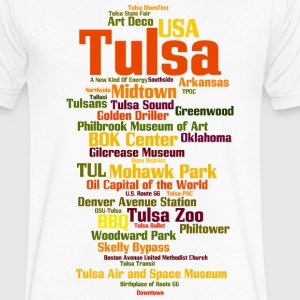 Tulsa (Oklahoma, USA, Oil Capital) - Men's V-Neck T-Shirt by Canvas