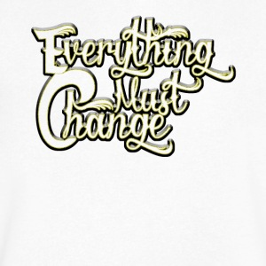 EVERYTHING MUST CHANGE 03 2 - Men's V-Neck T-Shirt by Canvas