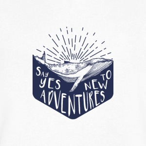 Adventure - Say yes to new adventure Products - Men's V-Neck T-Shirt by Canvas