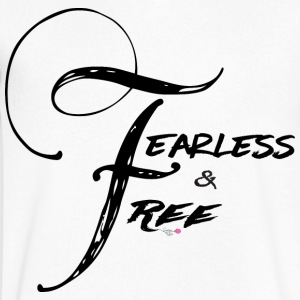 Fearless and Free2 Print - Men's V-Neck T-Shirt by Canvas