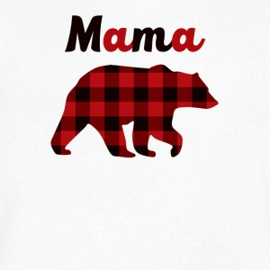 587 A Red Flannel Bear - Men's V-Neck T-Shirt by Canvas