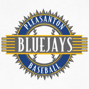 PLEASANTON BLUEJAYS BASEBALL - Men's V-Neck T-Shirt by Canvas
