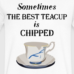 Teacup Chipped - Men's V-Neck T-Shirt by Canvas