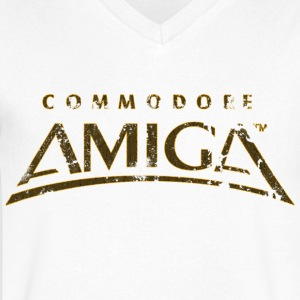 Commodore Amiga Vintage T Shirt - Men's V-Neck T-Shirt by Canvas