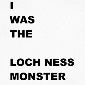 i WAS The Loch Ness Monster - Men's V-Neck T-Shirt by Canvas