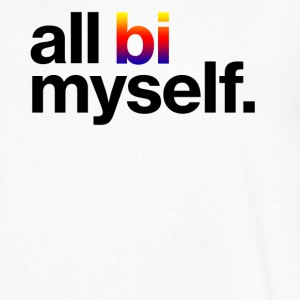 All Bi Myself - Men's V-Neck T-Shirt by Canvas