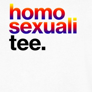 Homosexuali Tee - Men's V-Neck T-Shirt by Canvas