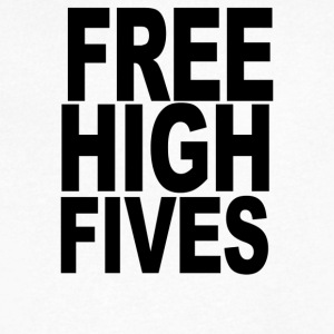 FREE HIGH FIVES - Men's V-Neck T-Shirt by Canvas