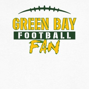 Green Bay football fan - Men's V-Neck T-Shirt by Canvas