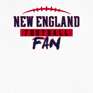 New England Football Fan - Men's V-Neck T-Shirt by Canvas