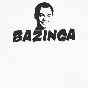 Bazinga - Men's V-Neck T-Shirt by Canvas