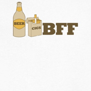 Beer And Cigs Best Friends Forever - Men's V-Neck T-Shirt by Canvas