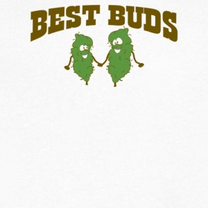 Best Buds - Men's V-Neck T-Shirt by Canvas