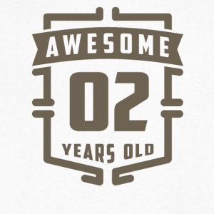 Awesome 02 Years Old - Men's V-Neck T-Shirt by Canvas