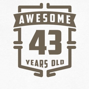 Awesome 43 Years Old - Men's V-Neck T-Shirt by Canvas