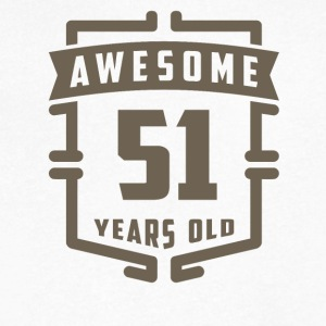 Awesome 51 Years Old - Men's V-Neck T-Shirt by Canvas