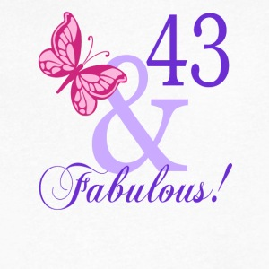 43 and Fabulous - Men's V-Neck T-Shirt by Canvas