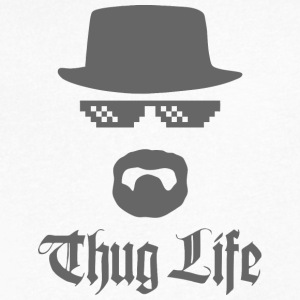Thug life - Men's V-Neck T-Shirt by Canvas