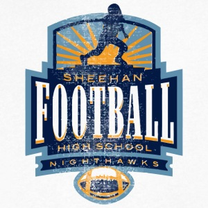 SHEEHAN FOOTBALL HIGH SCHOOL NIGHTHAWKS - Men's V-Neck T-Shirt by Canvas