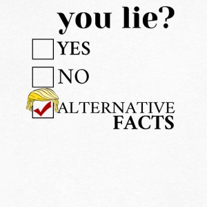 You Lie ? - Alternative Facts - Men's V-Neck T-Shirt by Canvas