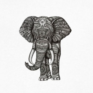 Elefant - Men's V-Neck T-Shirt by Canvas