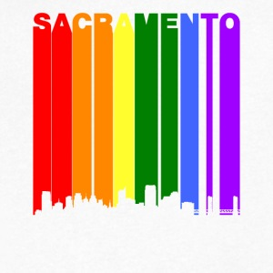 Sacramento California Rainbow LGBT Gay Pride - Men's V-Neck T-Shirt by Canvas