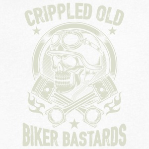 Crippled Old Biker Bastards T Shirt - Men's V-Neck T-Shirt by Canvas