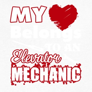 My Heart Belongs To An Elevator Mechanic - Men's V-Neck T-Shirt by Canvas
