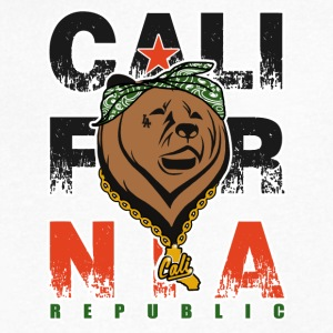 Cali Gangster Bear - California Republic LA - Men's V-Neck T-Shirt by Canvas