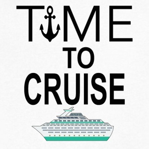 Time To Cruise Cool Cruising Tee Shirt - Men's V-Neck T-Shirt by Canvas