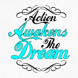 Action Awakens The Dream - Men's V-Neck T-Shirt by Canvas