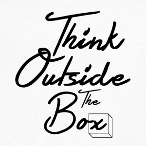 Think Outside The Box - Men's V-Neck T-Shirt by Canvas