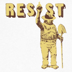 Smokey Bear Says Resist Tee Shirt - Men's V-Neck T-Shirt by Canvas
