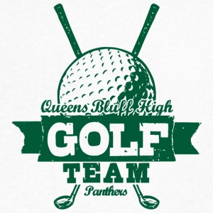 Queens Bluff High Golf Team Panthers - Men's V-Neck T-Shirt by Canvas