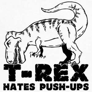 T Rex Hates Push Ups - Men's V-Neck T-Shirt by Canvas
