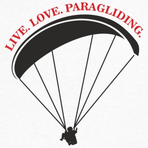 live love paragliding - Men's V-Neck T-Shirt by Canvas