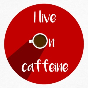 CAFFEINE - Men's V-Neck T-Shirt by Canvas